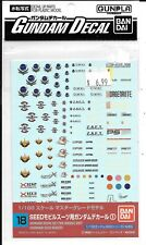 BANDAI Gundam Decal Set for Mobile Suit (Gundam Seed Series) 1/100 18