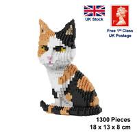 Tabby Cat 1300 Pieces Animal Mini Building Blocks Puzzle set