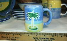 Baum Bros Style Eyes Palm Tree - Vintage Hand Painted Salt or Pepper Shaker