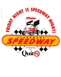 Claremont speedway Friday night is speedway night   sticker decal