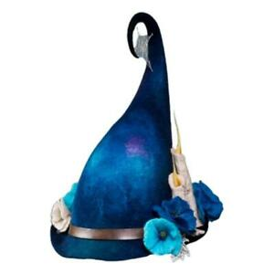 Colorful Artificial Flower Decor Wizard Hat Halloween Street Witch Hat Festivals