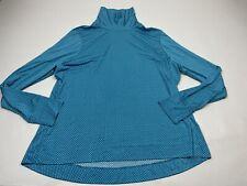Lands End Long Sleeve Blue Polka Dot Shirt Top  Turtleneck XL Slinky Swim