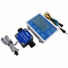 "1/2"" Liquid Gear Fuel Oil Flow Sensor+LCD Display control f diesel gasoline milk"