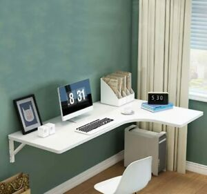 Floating Wall-mounted Folding Desk Home Office Study Computer Table Space Saving