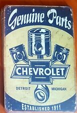 Chevrolet Genuine Parts Metal Tin Signs Bar Shed & Man Cave Signs AU Seller
