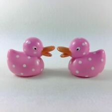 """2pcs New American Girl Pink Rubber Duck from Pet Bath Tub Set for 18"""" Doll"""