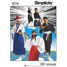 Simplicity Sewing Pattern 8318 Misses Mens & Teens Kimono Costumes Xs-xl