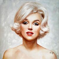 DI CAPRI ORIGINAL OIL PAINTING CANVAS MARILYN MONROE PORTRAIT | WHITE EDITION 04