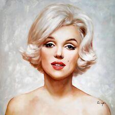 Di CAPRI ORIGINALE dipinto ad olio su tela Marilyn Monroe Ritratto | Bianco Edizione 04