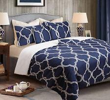 Brand New 6 Pieces Queen Size Bed Comforter Set Coverlet Quilt 220x220cm Blue