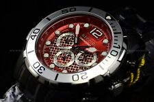 Invicta Men's 50mm Pro Diver Black with Ferrari Red Dial Chronograph SS Watch