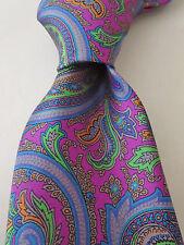 NWT ALTEA Multicolor Paisley Prints Smooth Silk Tie Italy $100