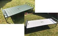 Folding Portable Steel Single Bed Frame Bedstead Bedroom Furniture Strong Bed