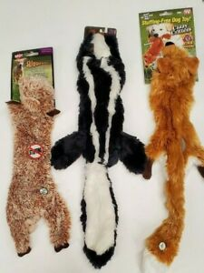 Stuffing-Free Crazy Critters Squeaking Dog Toys (Set of 3)