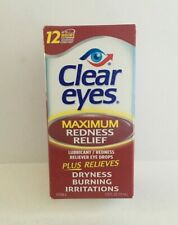 Clear Eyes Maximum Strength Redness Plus Relieves Eye Drops - 0.5 Oz, Exp 01/22