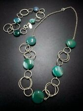 Sterling Silver 925 Necklace Bracelet Green Lace Agate