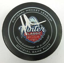 MARTIN BRODEUR SIGNED NHL 2017 WINTER CLASSIC OFFICIAL GAME PUCK 1009147