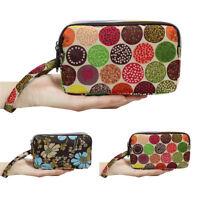 Small Women Nylon Mini Coin Purse Card Zipper Wallet Purse Cell Phone Bag Gift