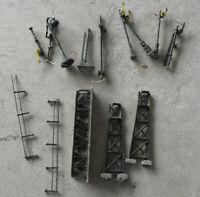 Vintage HO N Scale Metal Catwalk Lightposts and Train Signals Look