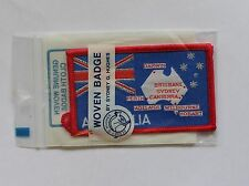AUSTRALIA CAPITOL CITIES CLOTH BADGE,SYDNEY G HUGHES AUSTRALIA WOVEN BADGE