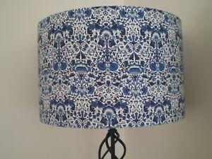 HANDMADE LAMPSHADE - LIBERTY LODDEN FABRIC - BLUE