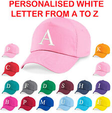 a3e32dd27 Personalised Kids Embroidery Baseball Cap Girls Boys Childrens Hat Summer A  to Z
