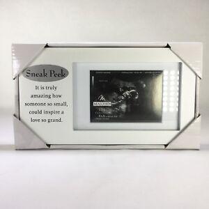 Sneak Peek Sonogram Ultrasound Baby Frame 4x6 White Malden International Design