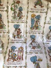 Vintage Holly Hobbie American Greetings Corp. Morgan Jones Twin Sheet Set