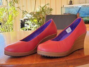 Crocs Wedges Red Shoes Sz 8