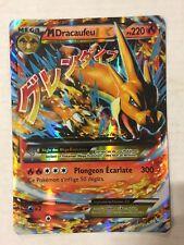 French Pokemon Mega Charizard Ex Red Jumbo Card Game Tcg Ccg