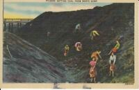 Anthracite Coal Mining Mine Pickers Waste Dump Scranton News Postcard H10