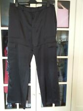 BNWT M&S Autograph Black Satin Wide Leg Combat Trouser UK 14 Was £49.50