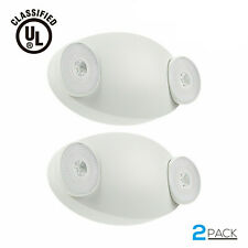 Led Emergency Exit Light Battery Backup Amp Adjustable Two Round Heads Ul Listed