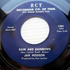JAN HODSON country bopper 45 Rain & Rainbows / Hold on to my shaking hands JR355