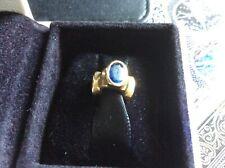 PANDORA 14K GOLD CHARM BLUE SAPPHIRE BONSAI LIGHTS AUTHENTIC RETIRED please read