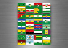 Flag sheet sticker labels country subdivisions states province  colombia