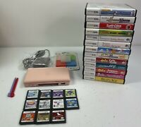 Nintendo DS Lite Pink Handheld Console Bundle With 24 Games Charger Tested Works