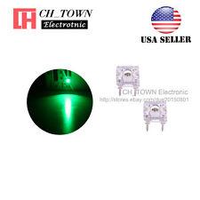 100pcs 3mm Piranha Super Flux Green Light Round Top LED Diodes Ultra Bright USA