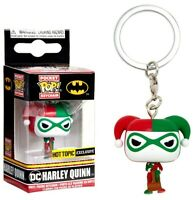 Funko DC Harley Quinn 'Holiday' Special Ed POCKET POP KEYCHAIN NEW STOCKING FILL