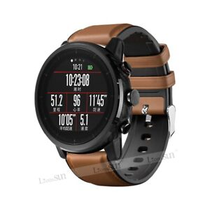 Leather&Silicone Strap Wrist Band For Samsung Galaxy Watch 46mm Gear S3 Frontier