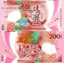 VANUATU 200 Vatu Banknote World Polymer Money UNC Currency Pick p14 2014 Bill