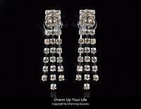 Australian Made 18K White Gold Plated Stud Earrings Swarovski Element Crystals