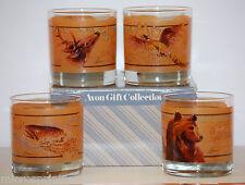 Avon 4pc 8oz. Wildlife Glass Set