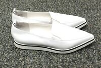 Shelley's London Jeune Loafer White Leather Pointed Toe Women's 9 EUC