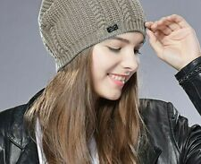 Females Slouchy Knitted Skullies Beanies Autumn Winters Outdoor Wear Bonnets New