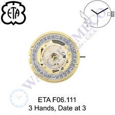 Genuine ETA F06.111 Watch Movement Swiss (Multiple Variations)