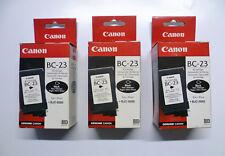 3 x Canon bc-23 BK Nero BJ-Cartridge per bjc-5000 bjc-5100 --- O.V./OVP