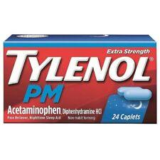 Tylenol PM Extra Strength Acetaminopen Diphenhydramine HCI 24 Caplets Exp 7/18