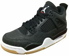 """Air Jordan Retro 4 SE """"Black Laser"""" Black/White-Gum Light Brown (GS)"""