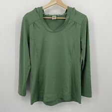 Stonewear Designs Womens Size Medium Green Pullover Hooded Shirt Made in USA